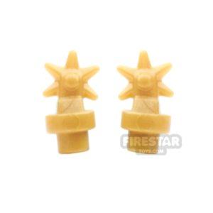Product shot BrickWarriors - Spurs - Pearl Gold