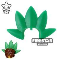 Product shot BrickWarriors - Tribal Mask Plume - Green