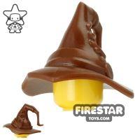 Product shot BrickWarriors - Wizard Hat - Brown