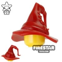 Product shot BrickWarriors - Wizard Hat - Dark Red