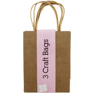 Product shot Brown Craft Gift Bags - Pack Of 3