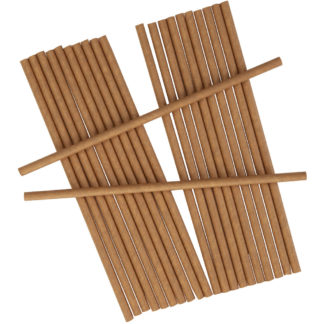 Product shot Brown Paper Straws - 25 Pack
