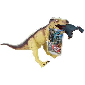 Product shot Cream T Rex Crushing Prey Dinosaur Figurine