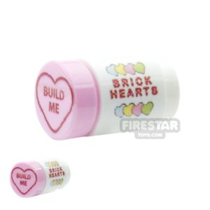 Product shot Custom Design - Brick Hearts Tube