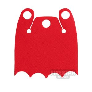 Product shot Custom Design Cape - Batman Cloak - Bite Overshoulder - Bright Red