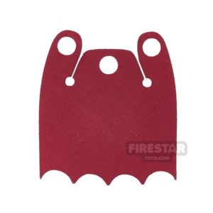 Product shot Custom Design Cape - Batman Cloak - Bite Overshoulder - Red
