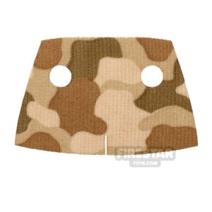 Product shot Custom Design Cape - Trenchcoat - Square Collar - Brown Camouflage