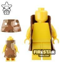 Product shot Custom Design Cape - Trenchcoat - Square Collar - Light Tan Camouflage