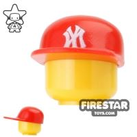 Product shot Custom Design Headgear - New York Cap - Red