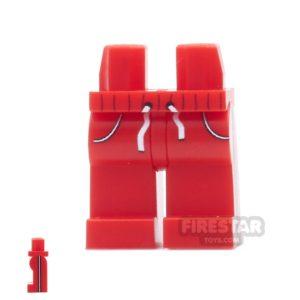 Product shot Custom Design Legs - Jogging Bottoms - Red