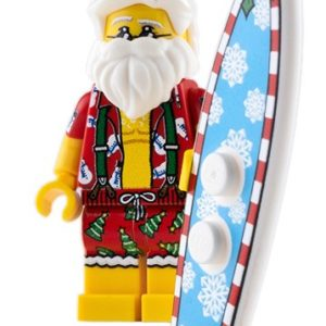 Product shot Custom Design Mini Figure - Surfin' Santa