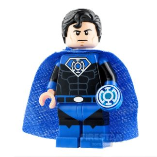 Product shot Custom Design Minifigure Superman Blue Lantern