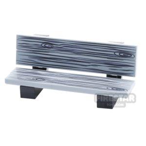 Product shot Custom Design Park Bench - Black And White