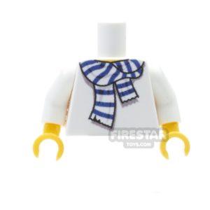 Product shot Custom Design Torso - Team Colour Scarf - White and Blue