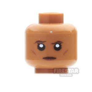 Product shot Custom Mini Figure Heads - Stern Female - Medium Dark Flesh