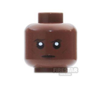 Product shot Custom Mini Figure Heads - Stern Female - Reddish Brown