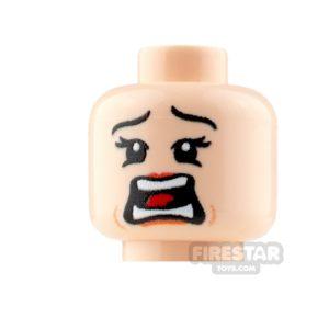 Product shot Custom Mini Figure Heads - Terrified - Female - Light Flesh