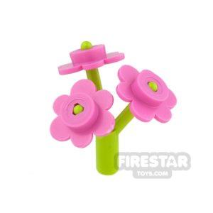 Product shot Custom Mini Set - Bridal Bouquet - Lime Stem - Dark Pink Petals