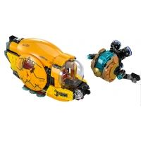 Product shot Custom Mini Set - Super Heroes - Golden Drone & Laser spaceships