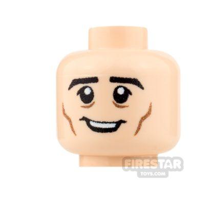 Product shot Custom Minifigure Heads - Cheerful - Male - Light Flesh