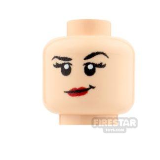 Product shot Custom Minifigure Heads - Confident Girl - Light Flesh