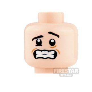 Product shot Custom Minifigure Heads - Shivering - Light Flesh