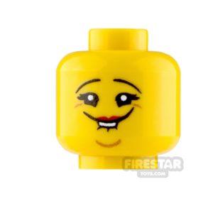 Product shot Custom Minifigure Heads Stifled Laugh Female