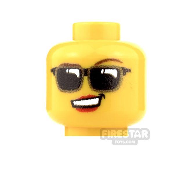 Product shot Custom Minifigure Heads - Sunglasses - Female - Light Flesh