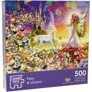 Product shot Fairy And Unicorn 500 Piece Jigsaw Puzzle