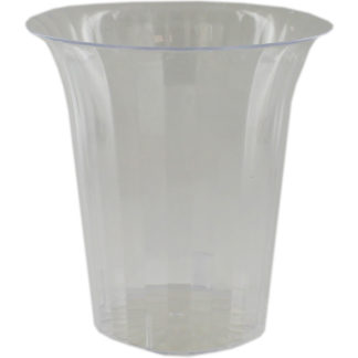 Product shot Flared Plastic Clear Candy Vase