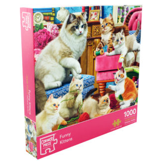 Product shot Funny Kittens 1000 Piece Jigsaw Puzzle