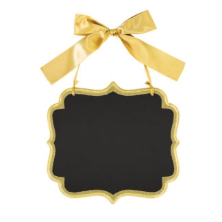 Product shot Gold Glitter Large Hanging Chalkboard Sign