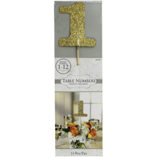 Product shot Gold Glitter Table Numbers
