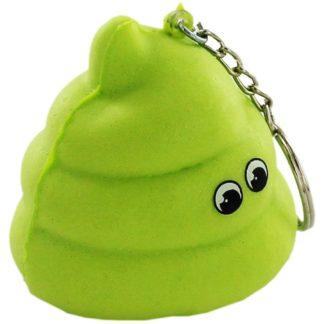 Product shot Green Emoji Poo Keychain Squishy Toy