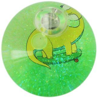 Product shot Green Glitter Dino Led Bounce Ball