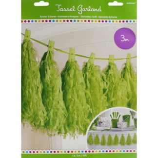 Product shot Green Paper Tassel Garland - 3M