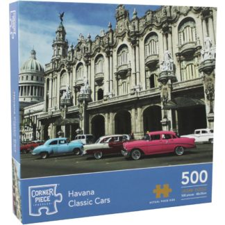 Product shot Havana Classic Cars 500 Piece Jigsaw Puzzle