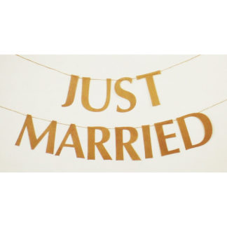 Product shot Just Married Kraft Bunting