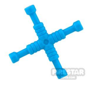 Product shot LEGO - 4-Way Lug Wrench - Dark Azure