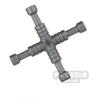 Product shot LEGO - 4-Way Lug Wrench - Flat Silver