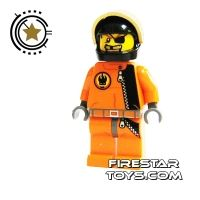 Product shot LEGO Agent Mini Figure - Gold Tooth - Helmet