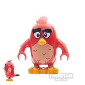 Product shot LEGO Angry Birds Mini Figure - Red - Wide Eyes