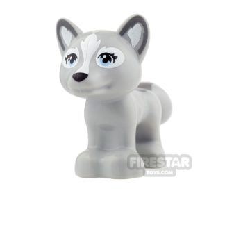Product shot LEGO Animals Mini Figure - Fox - Light Blueish Gray