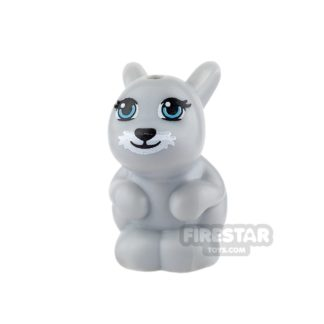 Product shot LEGO Animals Mini Figure - Rabbit - Light Blueish Gray
