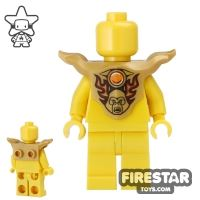 Product shot LEGO - Armour Breastplate - Pearl Gold with Gorzan Print