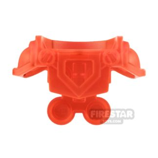 Product shot LEGO - Armour with Front Cut Out - Trans Neon Orange