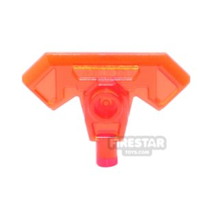 Product shot LEGO - Axe Head with Bar - Trans Neon Orange