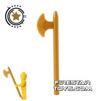 Product shot LEGO - Axe - Pearl Gold