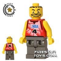 Product shot LEGO Basketball Player 4 - Dark Gray Legs