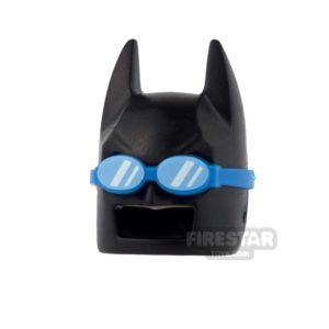 Product shot LEGO - Batman Mask - Angular Ears - Black with Swimming Goggles
